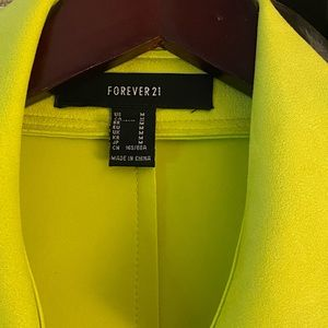 Forever 21 Jackets & Coats - Forever 21 Faux suede lime green trench coat - M